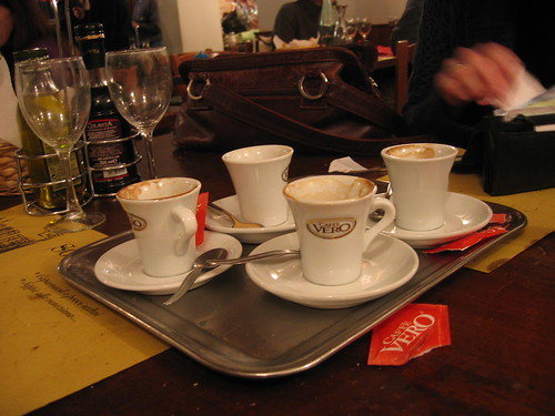 Coffees after dinner, Venice, Italy