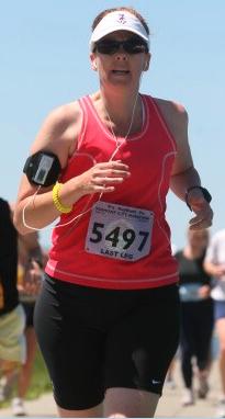 Becky marathon 2008