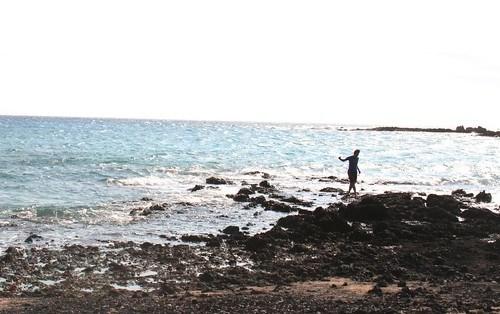 aaron walking in the tide