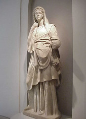 Sculpture of a Modest Roman Matron 1st century BCE