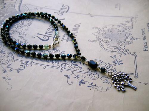 Strange Fruit necklace in black