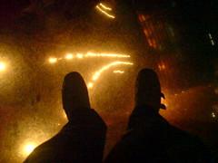 Looking down!