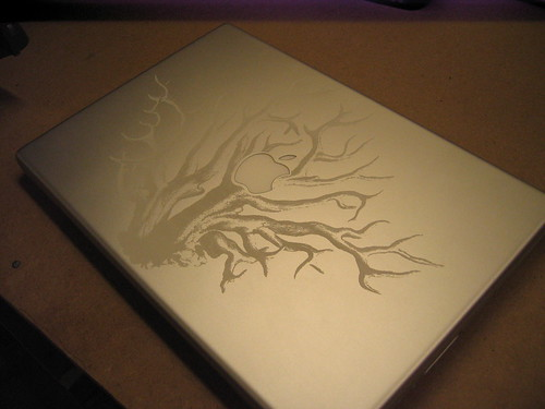 My etched laptop
