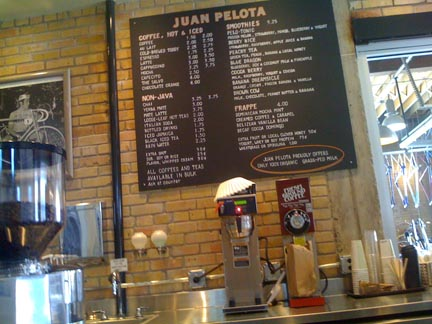 Juan Pelota Cafe inside Mellow Johnny's