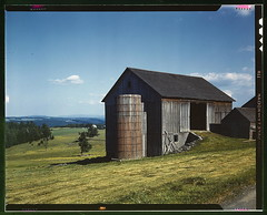 Farmland in the Catskill country, in New York ...