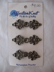 Norwegian Pewter frogs (clasps)
