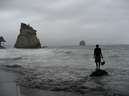 Before: Contemplation in Cathedral Cove, New Zealand