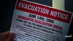 Aviso de evacuación en 2008