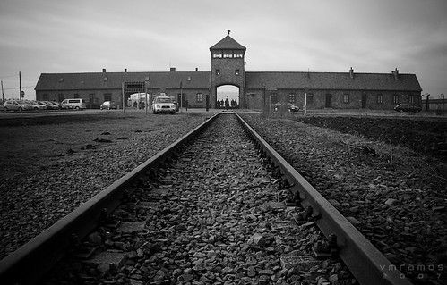 Auschwitz II entrance