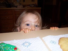 Helping with cookies