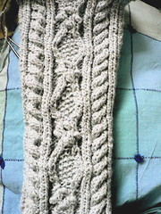 highland stocking--all cabled up