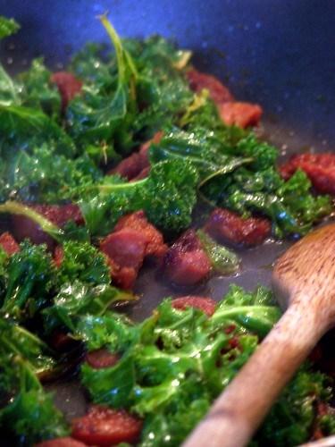 Kale & Chorizo Carbonara