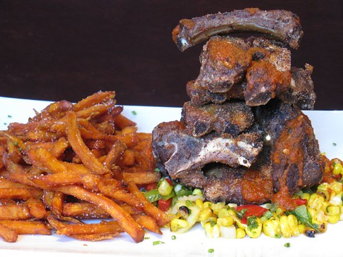 baby back ribs & yam fries