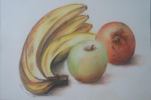 �泰_色鉛_香蕉與蘋果