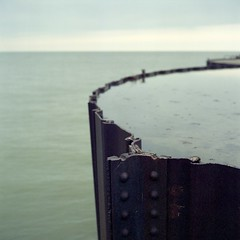 (super ape) Tags: barcelona lake ny newyork reflection tlr water rollei concrete pier rust iron decay horizon overcast upstate erie vb gossen rivet wny rolleicord fujinpz800 lunapro