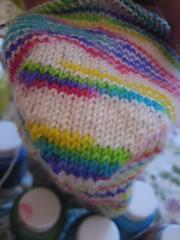 Rainbow socks heel cup
