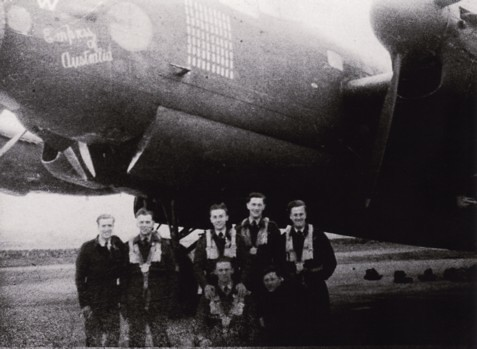 Kevin, crew and Lancaster