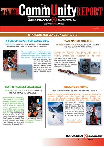 Dynastar Newsletter December 2007
