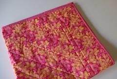 Back of finished quilt - folded