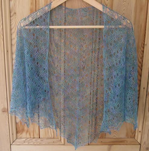 spring shawl finished