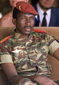 Captain Thomas Sankara, revolutionary leader of Burkina Faso between 1983-1987, when he was assassinated in a coup. por Pan-African News Wire File Photos.