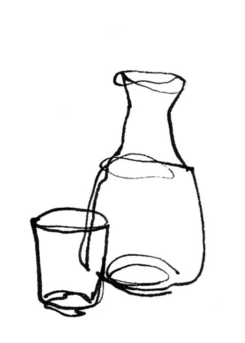 Cup and pitcher.