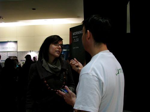 Adria Vasil talking to Raul