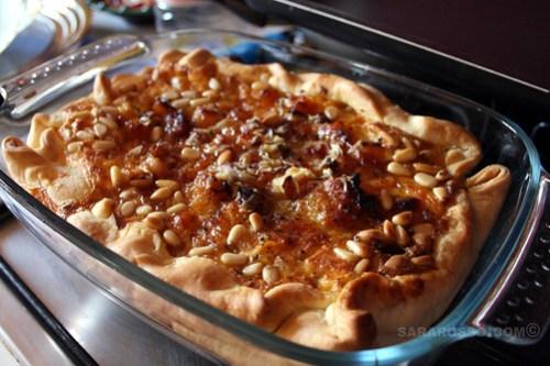 Pumpkin, Pancetta, Parmigiano and Pine Nut Savoury Tart