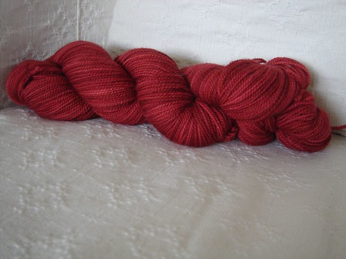 Madelinetosh Somewhat Solid Sock in Scarlet