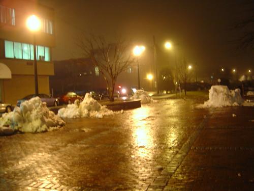 Depot Square after dark