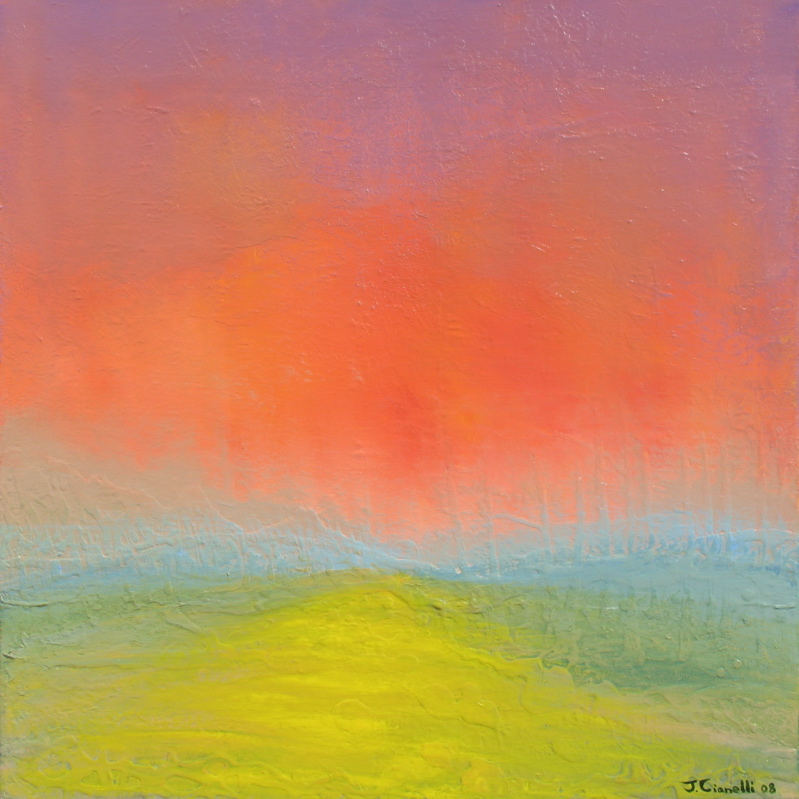 New Path Abstract Landscape Painting