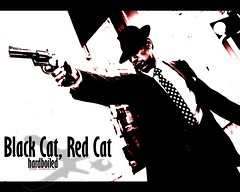 Black Cat, Red Cat hardboiled wallpaper 1
