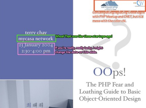 OOps at SF PHP Meetup