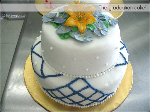 The graduation cake!