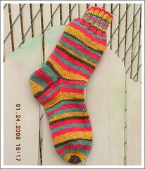 self-stripped sock