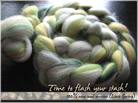 100% new wool merino (Lime Spring