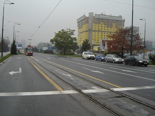 Traficul este acceptabil in Sarajevo chiar si dimineata