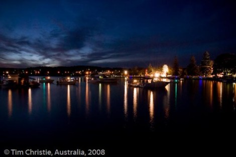Speers Point Boats - Pre Fireworks
