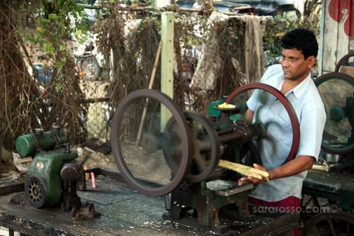 Making Sugar Cane Juice, Dandi Beach, India