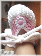 38-09 Baby Ballerinas weiß-rosa1