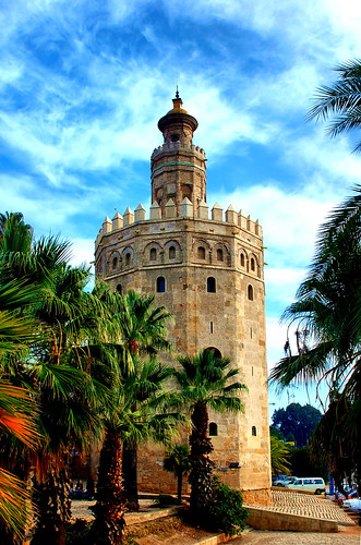 The Tower of Gold, originally a lookout tower built during the Muslim Almohad Dynasty