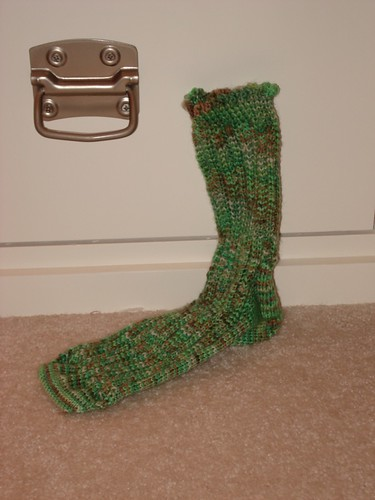 Finished Coffee Shop Sock