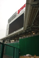 New Nationals Park Scoreboard from the Nationals Bullpen