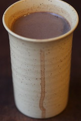 Spiced hot chocolate dripping