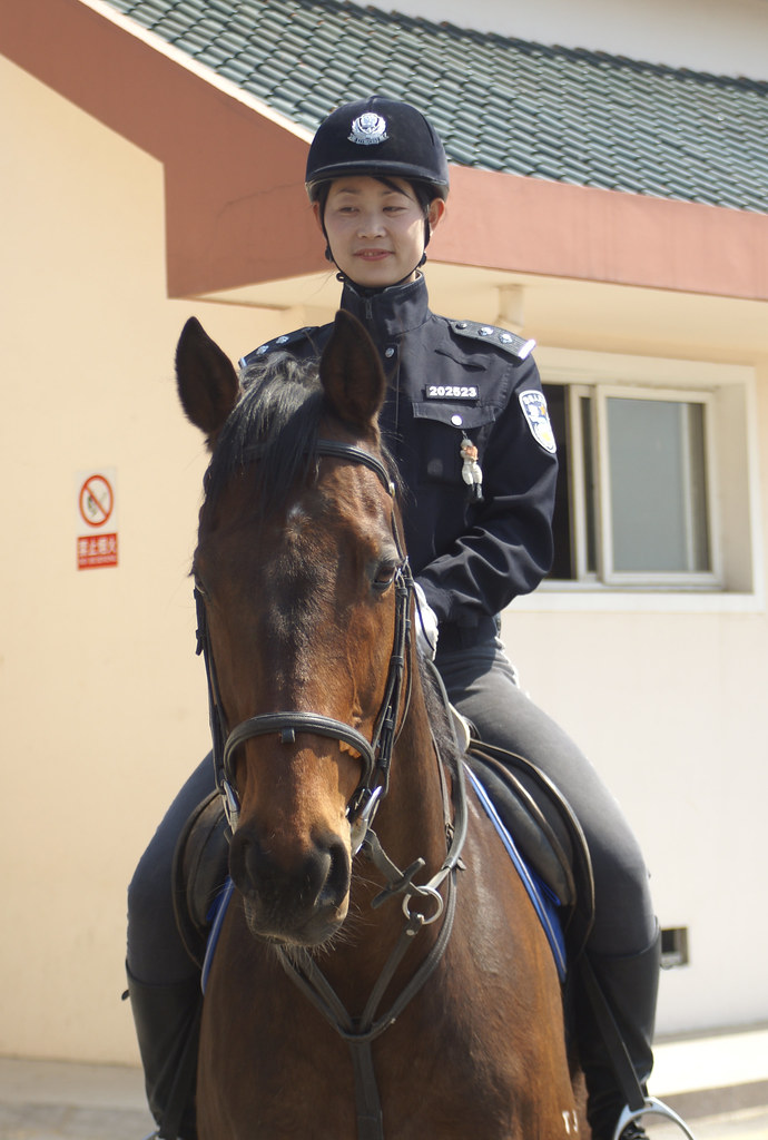 dalian women mounted police