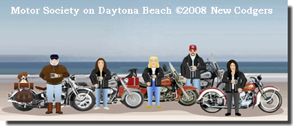 Motor Society on Daytona Beach ©2008 New Codgers