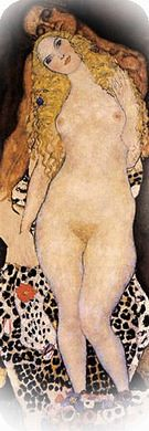 Gustav Klimt. Adam and Eve, 1917-18.