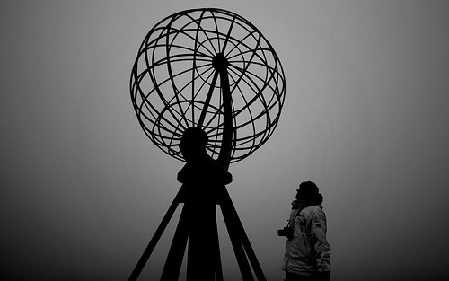 One man looking at one world #nordkapp #backpacking #traveling @visitnorway by @heidenstrom