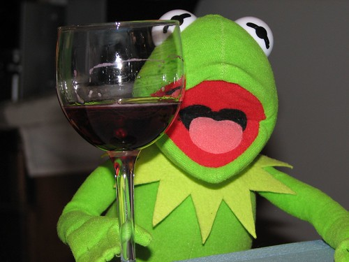 kermit the frog wine drinking itsfordad blog frog meat