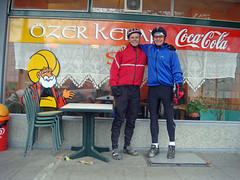 Post ride Kebap with Martin